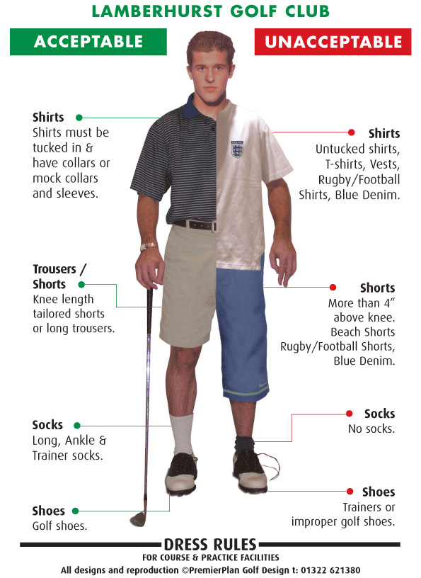 Golf Course Dress Code Shoes